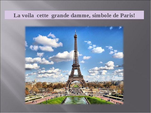 La voila cette grande damme, simbole de Paris!