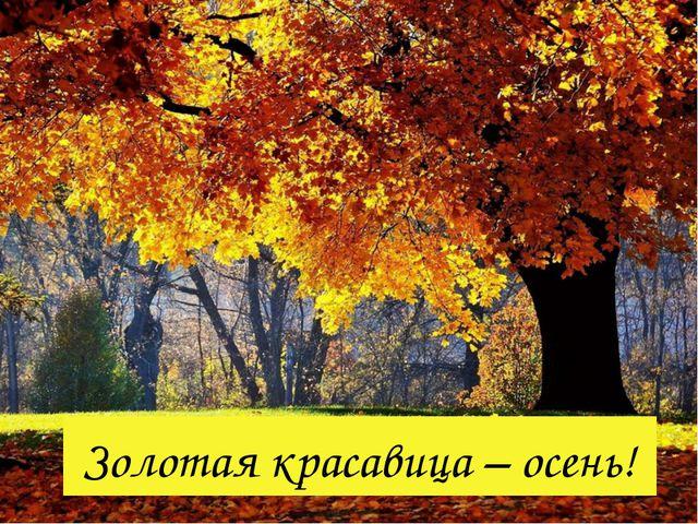 Золотая красавица – осень!