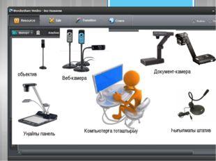 Веб-камера Документ-камера Һығылмалы штатив объектив Уңайлы панель Компьютер