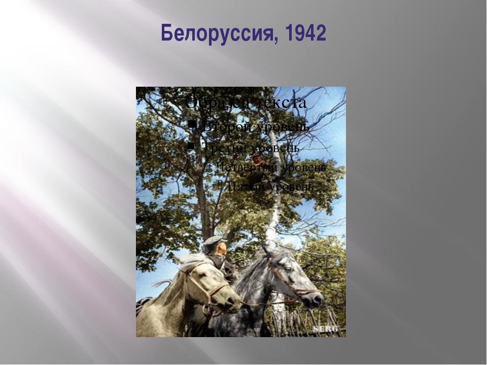 Белоруссия, 1942