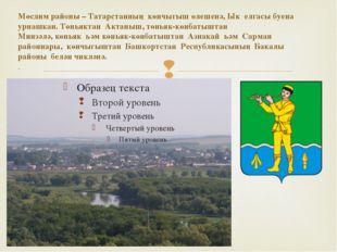 Мөслим районы–Татарстанның көнчыгыш өлешенә,Ык елгасы буена урнашкан. Төн