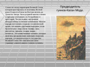 Предводитель гуннов-Каган Моде. Сотни лет назад территория Великой Степи, кот