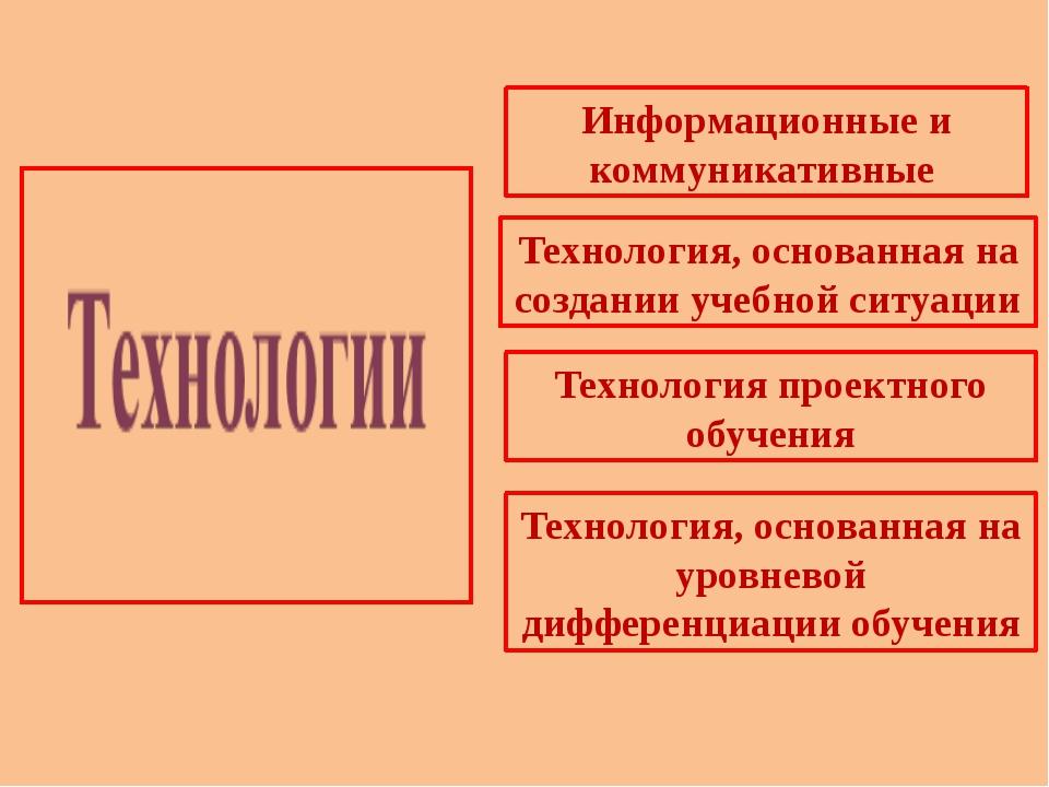Информационные и коммуникативные Технология, основанная на создании учебной с...