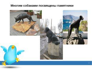 Многим собаками посвящены памятники