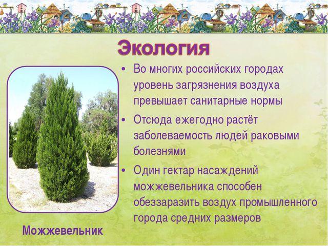 Во многих российских городах уровень загрязнения воздуха превышает санитарные...