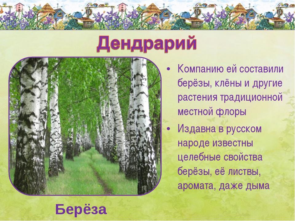 Компанию ей составили берёзы, клёны и другие растения традиционной местной фл...
