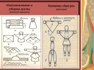 Изготовление и сборка куклы (женский вариант)