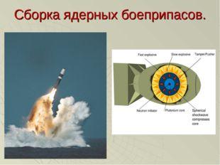 Сборка ядерных боеприпасов.