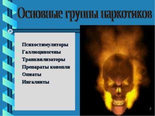 Психостимуляторы Галлюциногены Транквилизаторы Препараты конопли Опиаты Инга