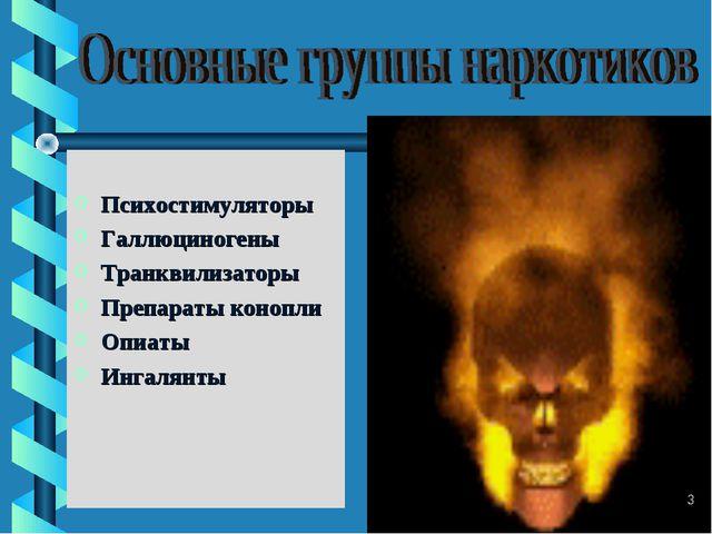 Психостимуляторы Галлюциногены Транквилизаторы Препараты конопли Опиаты Инга...