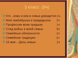 3 класс (9ч) Кто , кому и кем в семье доводится-1ч. Мои прабабушка и прадеду