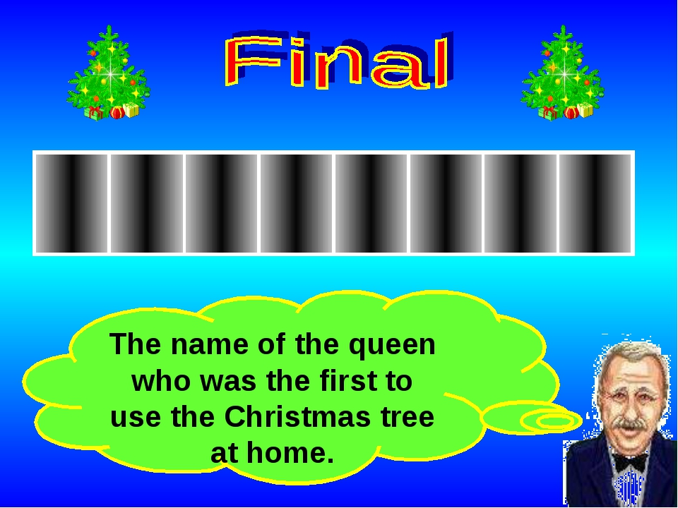 The name of the queen who was the first to use the Christmas tree at home.