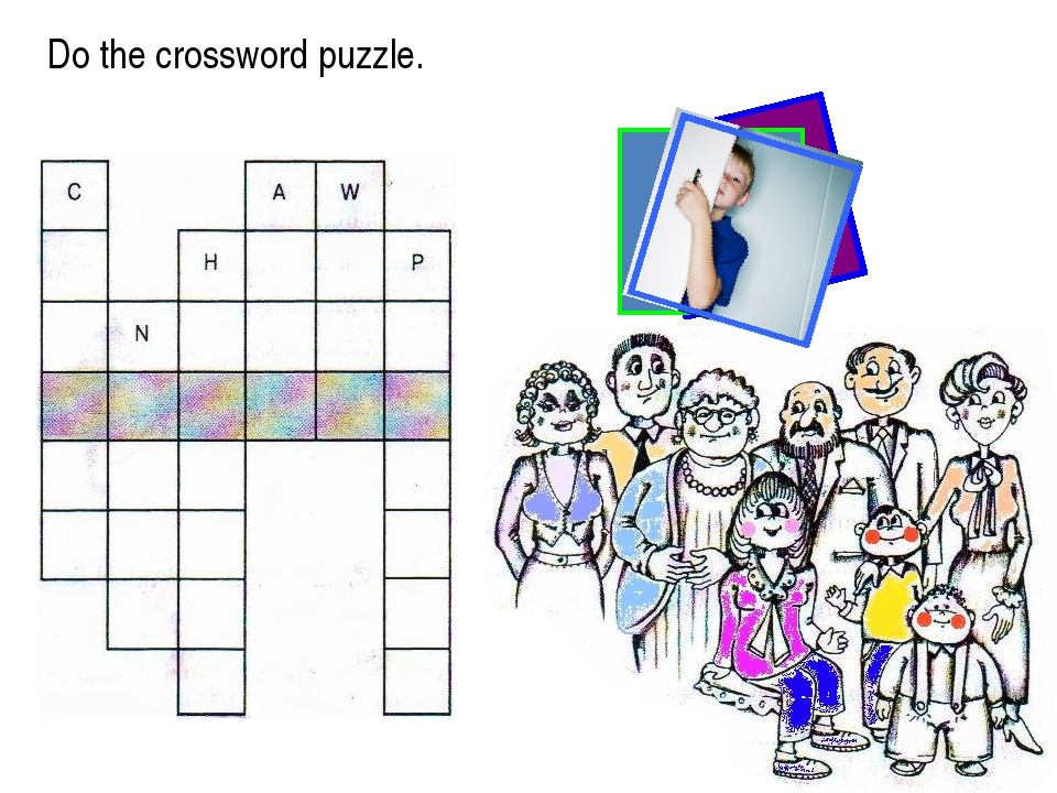 Do the crossword puzzle.