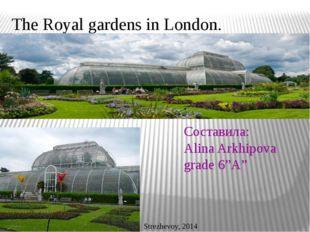 "The Royal gardens in London. Составила: Alina Arkhipova grade 6""A"" Strezhevoy"