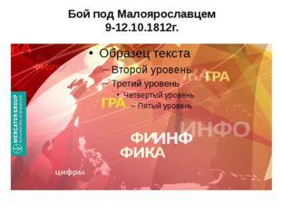 Бой под Малоярославцем 9-12.10.1812г.