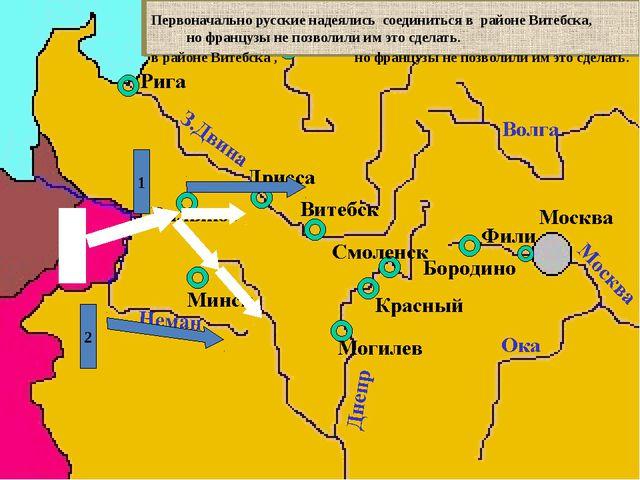 Действия французов заставили русское командование начать отступление, чтобы...