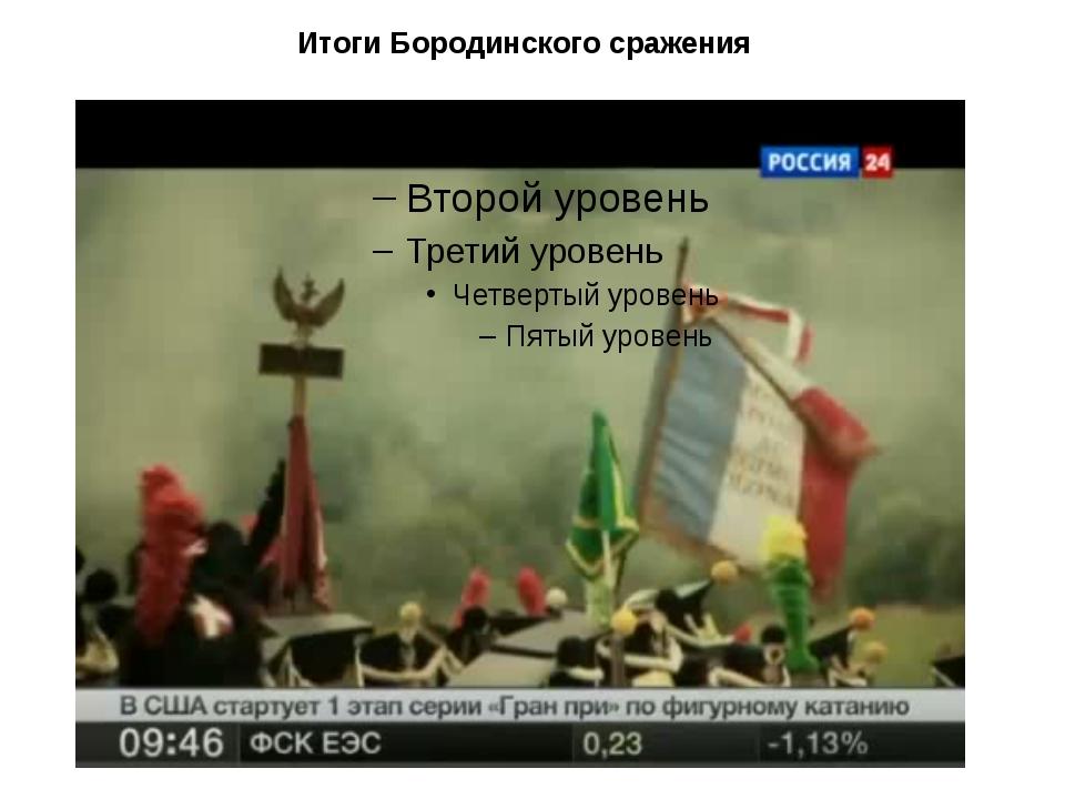 Итоги Бородинского сражения