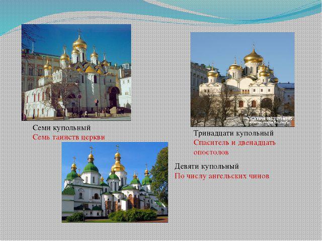 Семи купольный Семь таинств церкви Тринадцати купольный Спаситель и двенадцат...