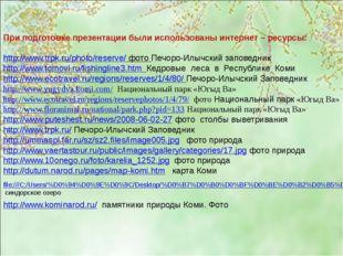 При подготовке презентации были использованы интернет – ресурсы: http://www.