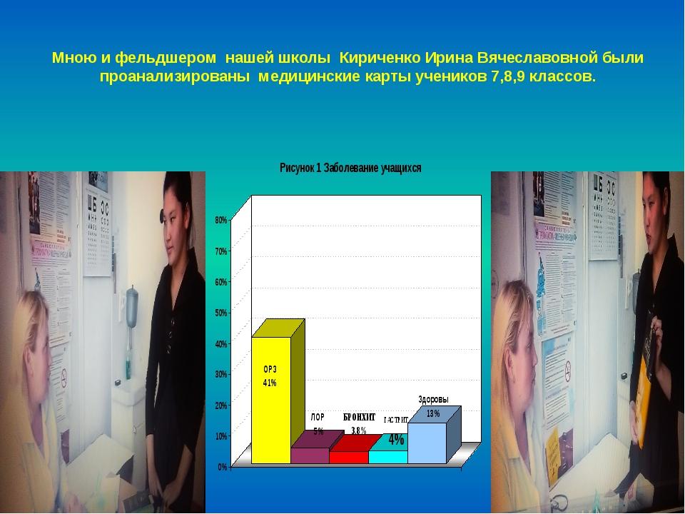 Мною и фельдшером нашей школы Кириченко Ирина Вячеславовной были проанализиро...