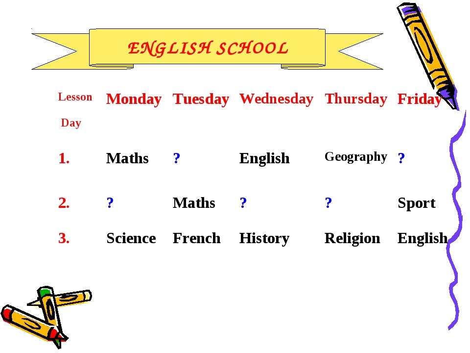 ENGLISH SCHOOL