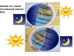 Земная ось имеет постоянный наклон 66,5