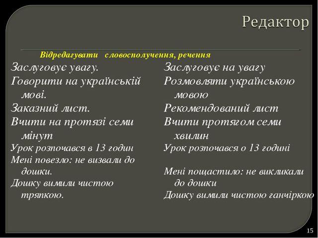 Заслуговує увагу. Говорити на українській мові. Заказний лист. Вчити на протя...