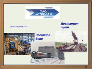 Локомотивное депо Вагонное депо Дистанция пути ОАО «СТРЕЛА»
