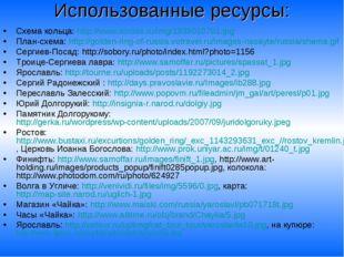Использованные ресурсы: Схема кольца: http://www.scross.ru/img/1939010701.jpg