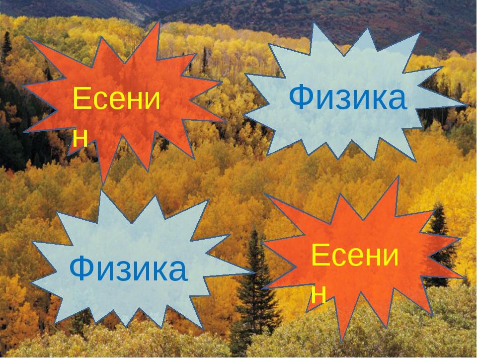 Есенин Есенин Физика Физика