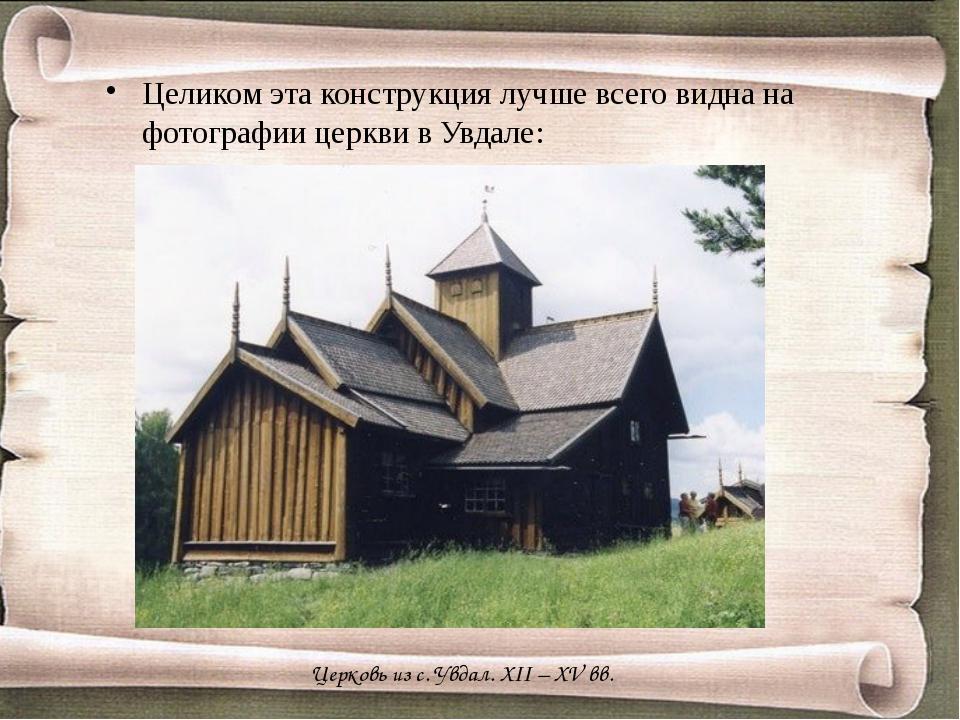 Целиком эта конструкция лучше всего видна на фотографии церкви в Увдале: Цер...