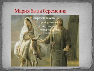 Мария была беременна.
