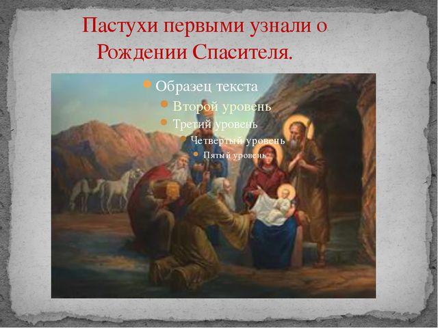 Пастухи первыми узнали о Рождении Спасителя.