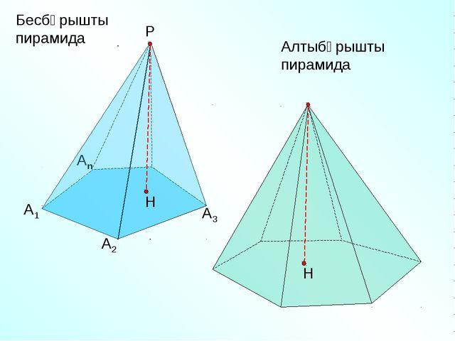 Бесбұрышты пирамида А1 А2 Аn Р А3 Алтыбұрышты пирамида