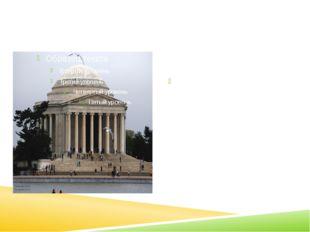 The Jefferson memorial The Jefferson Memorial was built in memory of the thir