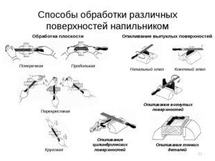 Способы обработки различных поверхностей напильником Обработка плоскости Попе