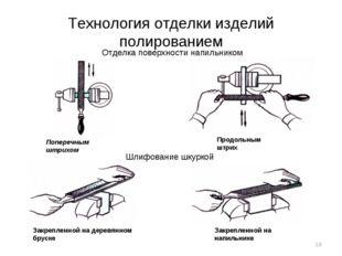 Технология отделки изделий полированием Отделка поверхности напильником Попер