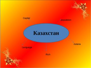 Казахстан Capital population Astana Rich Language
