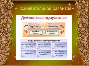 «Познавательное развитие»