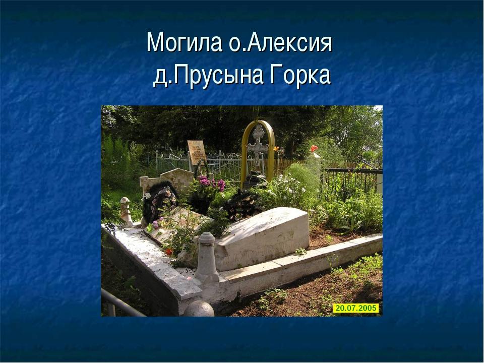 Могила о.Алексия д.Прусына Горка