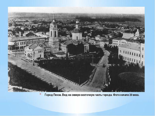 Город Пенза. Вид на северо-восточную часть города. Фото начала 20 века.