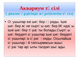 Аквариум тәсілі ( диалог үрдісінде жүргізілетін тәсіл) Оқушылар екі шеңбер құ