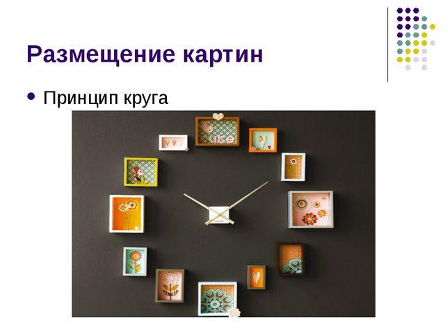 Размещение картин Принцип круга