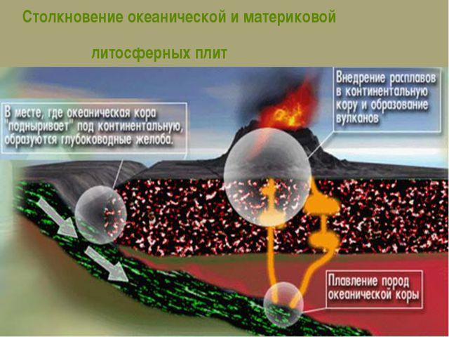 Столкновение океанической и материковой литосферных плит