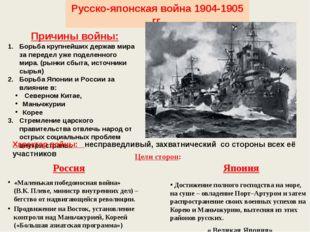 Русско-японская война 1904-1905 гг. Причины войны: Борьба крупнейших держав м
