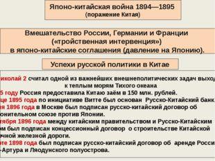 Японо-китайская война 1894—1895 (поражение Китая) Вмешательство России, Герм