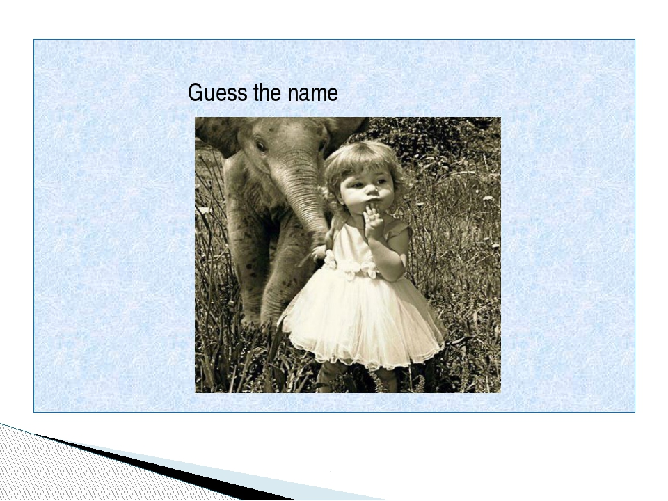 Guess the name