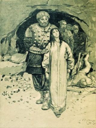 N:\\Владимир\Добрыня Никитич и Малуша - наложница Святослава Игоревича (мать Владимира Святославовича).jpg