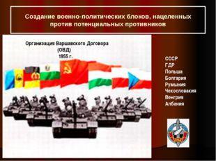 Создание военно-политических блоков, нацеленных против потенциальных противни