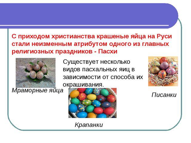 Мраморные яйца Крапанки Писанки С приходом христианства крашеные яйца на Руси...
